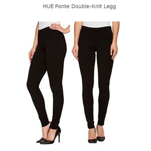 HUE Ponte Double-Knit Leggings